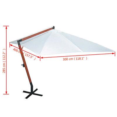 vidaXL Parasol 300 x 400 cm Blanc
