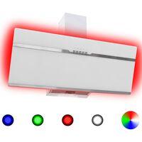 vidaXL Hotte avec LED RVB 90 cm Acier inoxydable et verre trempé