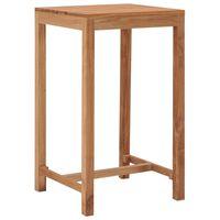 vidaXL Table de bar de jardin 60x60x105 cm Bois de teck solide