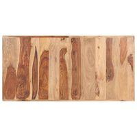 vidaXL Dessus de table Bois solide 16 mm 140x70 cm