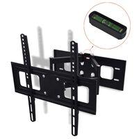 """vidaXL Support TV à double bras pivotant 3D 400 x 400 mm 32"""" - 55"""""""