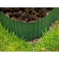Bordure de gazon en polyéthylène vert H9cm x L9m
