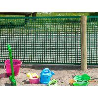 Grillage en maille rectangle plastique HDPE vert 20x30mm H0,5xL3m
