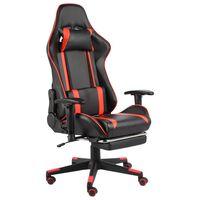 vidaXL Chaise de jeu pivotante avec repose-pied Rouge PVC