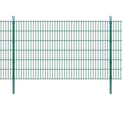 vidaXL Panneaux et poteaux de clôture 2D pour jardin 2008x1230 mm 34 m