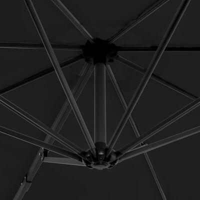 vidaXL Parasol en porte-à-faux et poteau en aluminium 300cm Anthracite