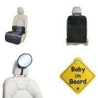 A3 Baby & Kids Kit d'accessoires de siège auto pour bébés 4 pcs Noir