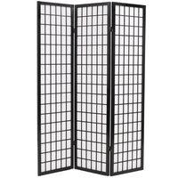 vidaXL Cloison de séparation 5 panneaux Style japonais 200x170 cm Noir