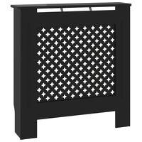 vidaXL Cache-radiateur MDF Noir 78 cm