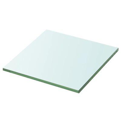 vidaXL Panneau pour étagère Verre transparent 20 x 20 cm