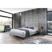Lit double gris 140 x 190 tête de lit pieds et sommier - ALASKA