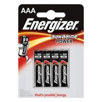 Energizer piles alcalines EN E300132600 Aaa 1,5 V Puissance 4 blister
