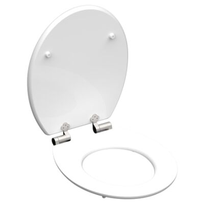 SCHÜTTE Siège de toilette avec fermeture en douceur POLAR LIGHTS MDF