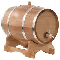 vidaXL Tonneau à vin avec robinet Chêne massif 12 L