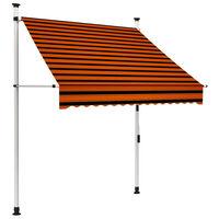 vidaXL Auvent manuel rétractable 150 cm Orange et marron