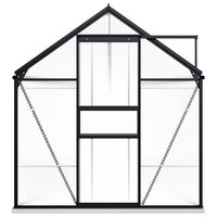 vidaXL Serre avec cadre de base Anthracite Aluminium 9,31 m²