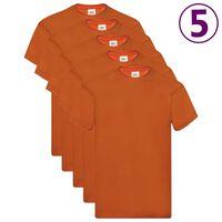 Fruit of the Loom T-shirts originaux 5 pcs Orange L Coton