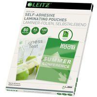 Leitz Pochettes de plastification auto-adhésives A4 100 pcs