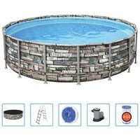 Bestway Ensemble de piscine Power Steel 488x122 cm
