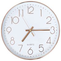 vidaXL Horloge murale 30 cm Or rosé
