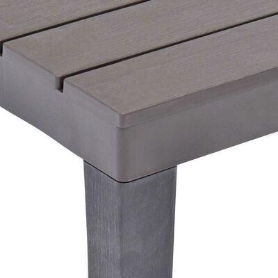 vidaXL Table de jardin avec 2 bancs Plastique Marron