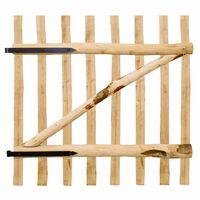 vidaXL Portillon de clôture simple Bois de noisetier 100 x 100 cm