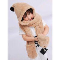 Écharpe à capuche pour enfants - marron