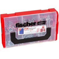 Fischer Jeu de chevilles avec vis FIXtainer DUOPOWER/DUOTEC 200 pcs
