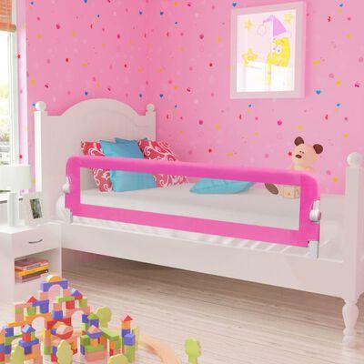 vidaXL Barrière de lit pour enfants 150 x 42 cm Rose