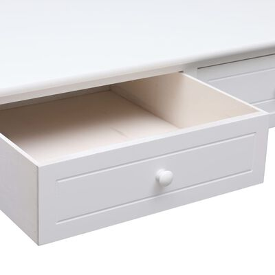 vidaXL Table basse Blanc 100 x 50 x 45 cm Bois