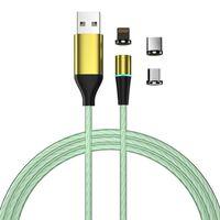 Câble de charge avec LED et prise anti-poussière - MicroUSB / USB-C /