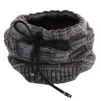 Bonnet / écharpe d'hiver multifonctionnel - noir / gris