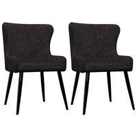 vidaXL Chaises de salle à manger 2 pcs Noir Velours