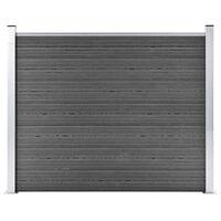 vidaXL Panneau de clôture WPC 180x146 cm Noir