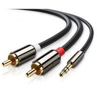 Câble audio stéréo 3,5 mm vers 2x RCA - 2 m