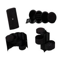 Boîte à bijoux avec 3 tiroirs - noir