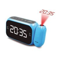 INOVALLEY RP211C Radio reveil projecteur Bleu