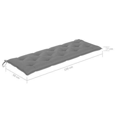 vidaXL Coussin de balancelle Gris 150 cm Tissu