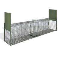 vidaXL Attrape à animaux avec 2 portes 150 x 30 x 30 cm