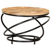 vidaXL Table basse 60x60x40 cm Bois de récupération massif