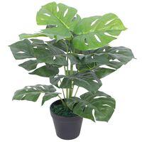vidaXL Plante Monstera artificielle avec pot 45 cm Vert