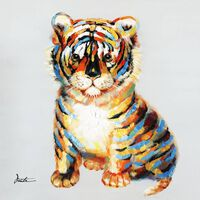 Peinture Bébé Tigre Multicolore - Tigrou
