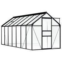 vidaXL Serre Anthracite Aluminium 8,17 m²