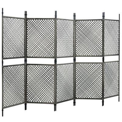 vidaXL Panneau de clôture Résine tressée 3x2 m Anthracite