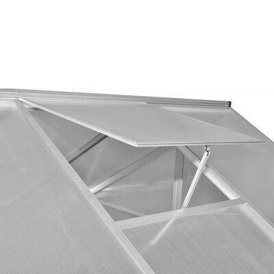 vidaXL Serre Aluminium 481x250x195 cm 23,44 m³