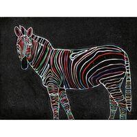 Peinture Sur Toile Zèbre - Zebra Neon