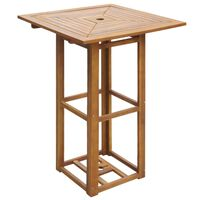vidaXL Table de bistro 75 x 75 x 110 cm Bois d'acacia massif