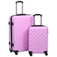 vidaXL Ensemble de valises rigides 2 pcs Rose ABS