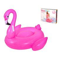 Lit Gonflable Xl Flamingo - Gonflable Flamingo - 110x86x 102cm -
