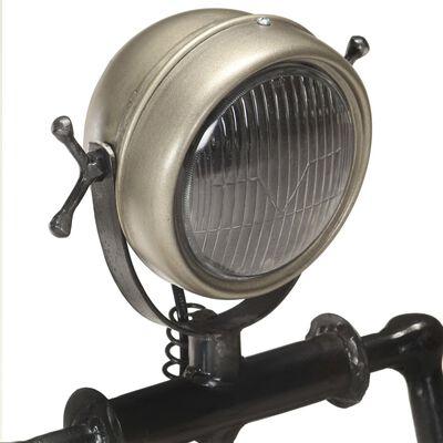 vidaXL Lampadaire avec phare de moto en forme de poupée E27